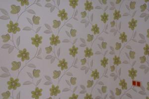 Tapete - Blumenmuster grün